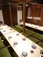 掘りごたつの個室、団体様席を完備した居酒屋です!