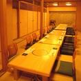 広いお座敷席がございますので、大型宴会も対応可能です。お気軽にご相談ください◎
