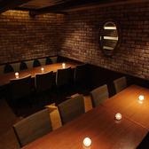 会社の集まりや女子会、友人同士の飲み会に人気の個室。