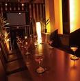 団体での飲み会に最適のお席です♪その他、女子会、合コンにもオススメの使いやすいお席となっております!