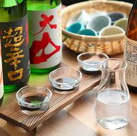 お料理に合う日本酒を豊富にご用意しております