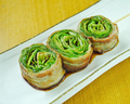 料理メニュー写真レタス豚巻き