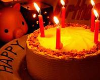 記念日にはホールケーキでサプライズ♪