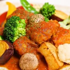 若鶏のトマト煮 野菜のラタトゥイユ