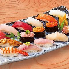 寿司盛り合わせ 15貫・貝汁付