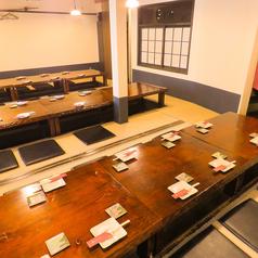 【2F】最大宴会人数35名様までOKの掘りごたつ席です。テーブル毎に分けて12名程度の少人数宴会もOK