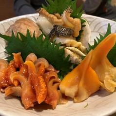 貝類盛り合わせ三種