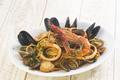 """料理メニュー写真具だくさん海の幸のトマトクリームソース""""ペスカトーレ"""""""