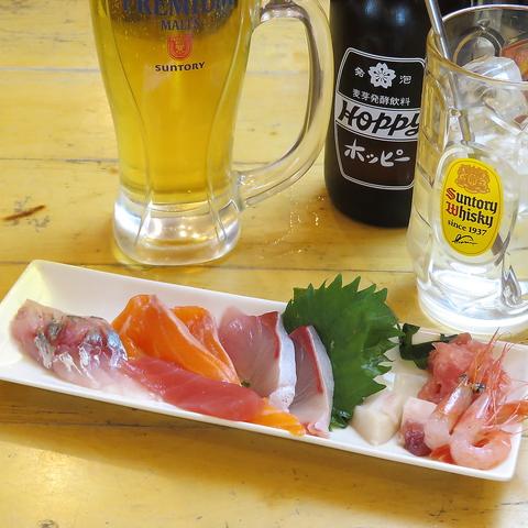 2h飲み放題付き《全7品》お刺身など海鮮も存分に☆3300円コース