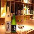 日月火こだわりの日本酒を御用意しております