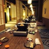 《3階》落ち着いた雰囲気の店内。人気の掘り炬燵個室は最大100名様まで。早目のご予約がオススメです。