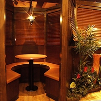 カップルシートや少人数向け個室・半個室もご用意♪