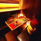 落ち着いた雰囲気の和バル個室