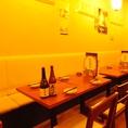【6名向けのソファ席も◎】昭和の居酒屋をイメージし、表参道には無い、昔ながらの落ち着ける店内。ゆったり広々とした店内で、手間がかかったお料理をリーズナブルにご堪能いただけます!