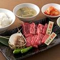 【ランチ】京橋定食(カルビ・バラ・ご飯・スープ・キムチ・サラダ)1,380円(税込)