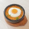 料理メニュー写真熱々釜石焼きキーマカレーライス