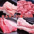 料理メニュー写真ホルモン20種333円!!