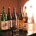 飲み放題に含まれる日本酒一例 【緑川】【真野鶴】【鶴齢】【菅名岳】【八海山】【上善如水】など