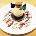 料理メニュー写真生チョコタルト キャラメルアイスのせ