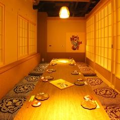 《3階》庄屋さんのお屋敷風の個室。スタンダードなジャズが流れる落ち着いた雰囲気です。会社宴会にオススメです。