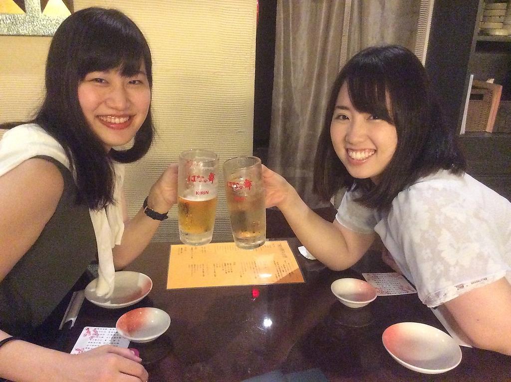 楽しい仲間と美味しいお料理とお酒を囲んで!!!  席のみのご予約も承り致します。
