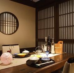テーブルの個室は新感覚で一番人気。