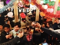 【HAPPY WEDDING】結婚のお祝いパーティー風景