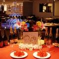 結婚式2次会等各種PARTYもお任せ下さい!貸切は40名様よりOK♪立食で200名様までのパーティが可能です。料理内容やパーティー進行に関する事はパーティー経験豊富なTiTOスタッフが幹事様をサポートします。貸切特典も多数ご用意♪