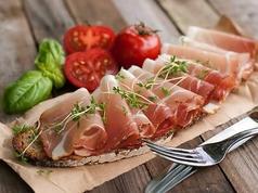 栗豚生ハムとフレッシュトマト
