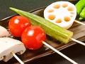料理メニュー写真野菜串五本盛り