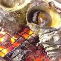料理メニュー写真サザエつぼ焼/きすの塩焼/焼はまぐり