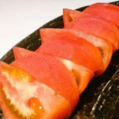 料理メニュー写真まるごと冷しトマト