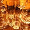 お酒を最も美味しく味わう為グラスも多数