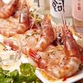 料理メニュー写真甘エビと本日の鮮魚のカルパッチョ仕立て