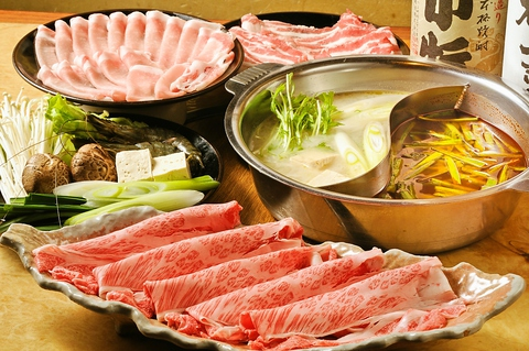 寿司・しゃぶしゃぶ・お鍋など食べ放題のお店。ボリューム満点で大満足。