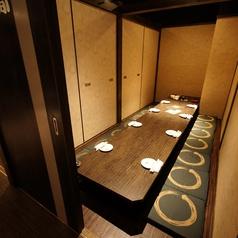 8名様までの中規模個室。接待や急な飲み会も安心♪