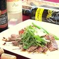 料理メニュー写真牛ロース肉のタリアータ バルサミコソース