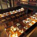 ≪40名様用テーブル席≫インテリアにもこだわった大宴会場も完備◎最大40名様までご利用可能なので、大型宴会も大歓迎です!会社宴会や同窓会、歓送迎会にもおすすめです♪大型宴会は、是非わん黒崎コムシティ店へ!
