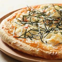 料理メニュー写真明太ポテトピザ