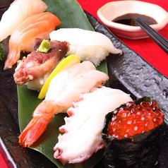 料理メニュー写真本日の魚の握り寿司