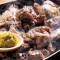 料理メニュー写真紀州備長炭で炙る薩摩地鶏の炙り焼き