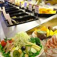 世界のシズラーで愛されるインターナショナルサラダをはじめ、11種類をご用意。