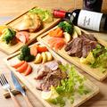 料理メニュー写真ミックスプレート(鶏、豚、牛)300g