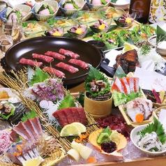 魚と炭と酒 はちおのコース写真