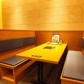 広々としたテーブル席です。ビュッフェで取り過ぎても充分テーブルに置いて楽しめます。また、火を使わずIHなのでお子様にも安心♪家族連れでお越しいただけます。京都駅にお越しの際はぜひ厳選したお肉や新鮮野菜をお召し上がりくださいませ♪