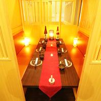宴会個室が豊富!人数に応じた素敵な個室をご提供!