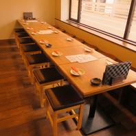 宴会にお任せなテーブル席は最大14名様までOKです!