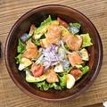 料理メニュー写真サーモンとアボカドのパワーサラダ