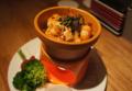 料理メニュー写真・東京野菜と海老と茸のアヒージョ パン…+200円
