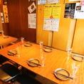 広々と使えるテーブル席はご宴会にぴったり!